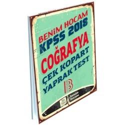 Benim Hocam Yayıncılık - 2018 KPSS Coğrafya Çek Kopart Yaprak Test Benim Hocam Yayınları