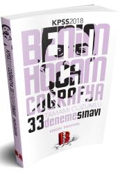 Benim Hocam Yayıncılık - Benim Hocam Yayınları 2018 KPSS Coğrafya Tamamı Çözümlü 33 Deneme